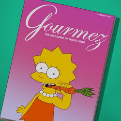 Lisa na okładce Gourmez