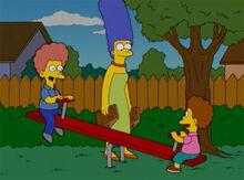 Marge cuidando rod todd