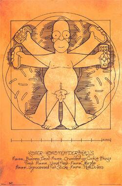 Poster Homer da Vinci