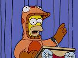 Vejam como Homer corre