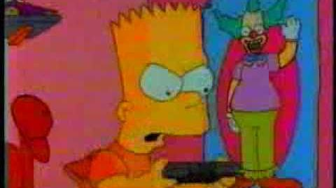 Classic bart simpson video game commercial