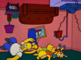 Topsy Turvy couch gag