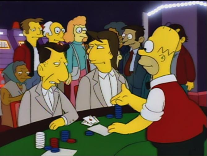Simpsons episode marge gambling free bonus bingo casino