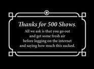 Alll 500shows