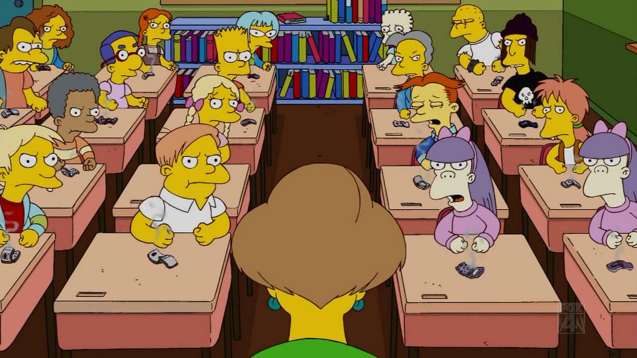 Картинка симпсон на уроке