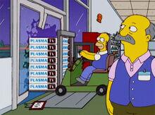 Homer saindo do wallmart