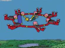 Moe salto suicidio