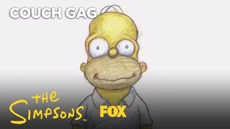 Plympton Homer's Face Couch Gag Season 29 Ep. 13 THE SIMPSONS