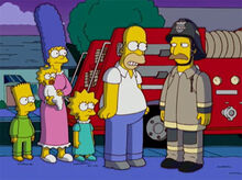 Homer mentindo bombeiro 18x16