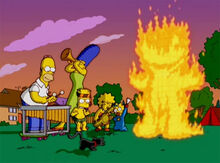 Simpsons musica fogueira