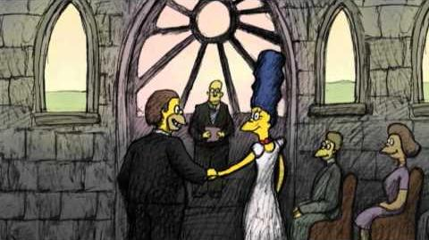 """THE SIMPSONS - Bill Plympton Couch Gag from """"Beware My Cheating Bart"""""""