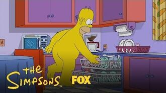 Homer Enjoys The Day In His Birthday Suit Season 28 Ep. 2 THE SIMPSONS-0