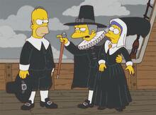 Homer moe marge briga barco