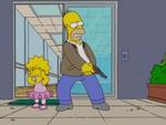 Homer shoots deathstick