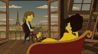 Monty Burns i Lyla w Paryżu