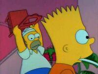 Homer tenta parar Bart