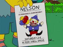 Nelson convite aniversário