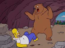 Urso homer ataque 2 caverna