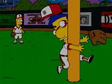 Milhouse acidente beisebol 18x18