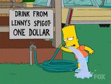 Bart agua lenny dolar