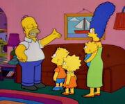 Homer z rodziną