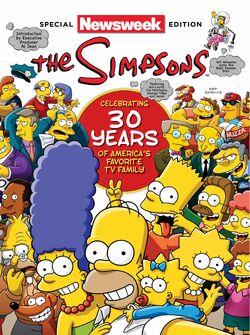Simpsonowie na okładce Newsweeka