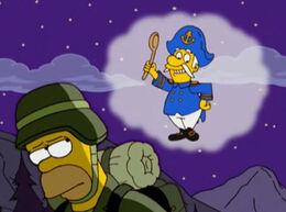 Homer soldado capitão crunch