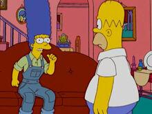 Marge brava exploração homer