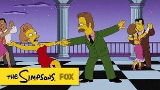 "Ned & Edna from ""The Man Who Grew Too Much"" THE SIMPSONS ANIMATION on FOX"