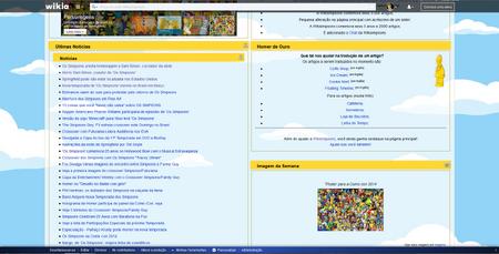 Página inicial antiga