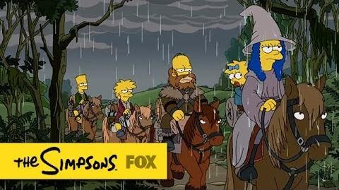 """The Hobbit"" Couch Gag from ""4 Regrettings and A Funeral"" THE SIMPSONS ANIMATION on FOX"