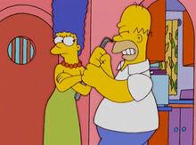 Marge empacada pé-de-cabra homer