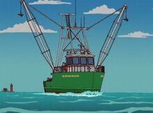 Capitão pelicano podre barco 2