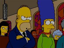 Homer aborrecido igreja 18x18
