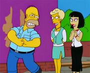 Homer exibido solteironas
