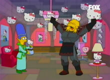 Bart cavaleiro furia hello kitty