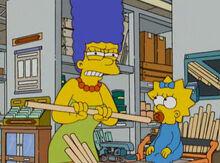 Marge irritada loja construção
