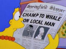 Marge jornal luta homer vs tatum