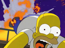 Homer salto explosão cais