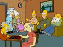 Homer soldado escondido asilo