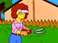 Maude does gardening