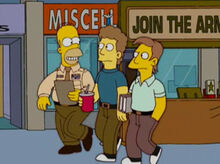 Homer recrutador exercito shopping