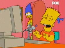 Marge espia bart computador malvado