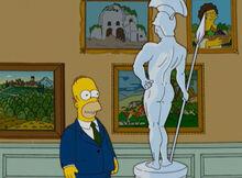 Homer olho pênis estátua