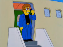 Elton john saindo avião