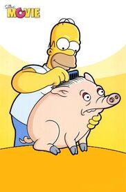Homer e porco aranha