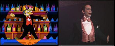 Simpsons cabaret parodia