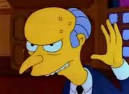 Charles Montgomery Burns a bit younger in I Married Marge