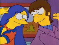 Homer i Marge jako nastolatkowie