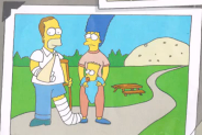 Young Hurt Homer and his family